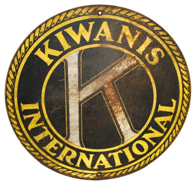 Steel Kiwanis Sign