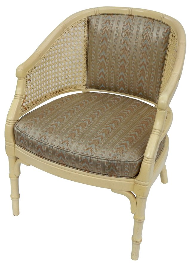 Faux-Bamboo Caned Chair
