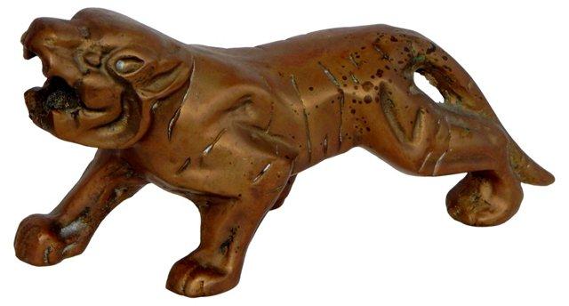 Brass Sabertooth Tiger