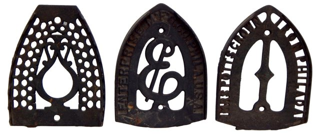 Philadelphia   Iron Trivets, Set of 3