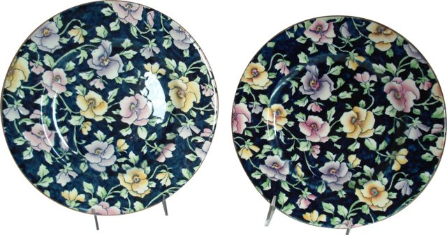 Royal Winton May Festival Plates, Pair
