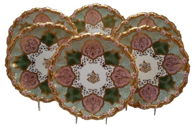 Antique Dessert Plates, S/6