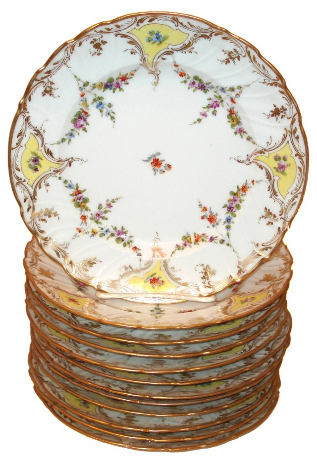 Floral Dresden Plates, Set of 12