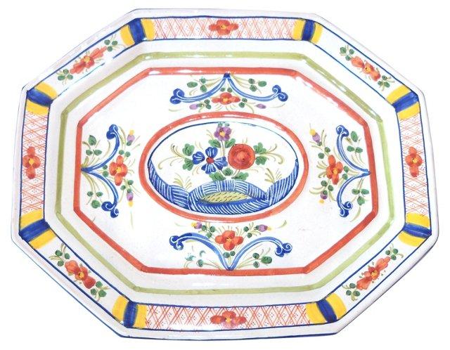 Italian Floral Plate