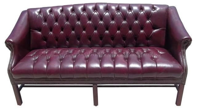Burgundy Chesterfield Couch