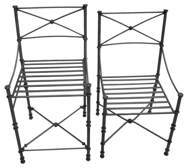 Iron  Chairs, Pair