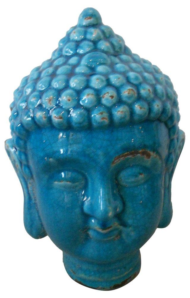 Tibetan Blue Buddha Head