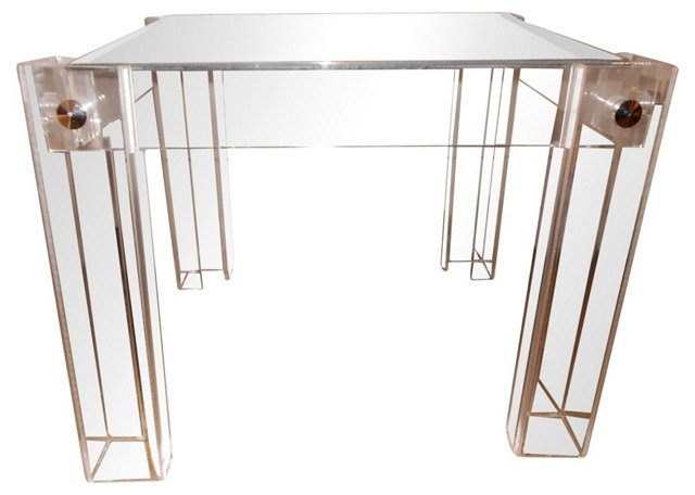 Square Lucite Side Table