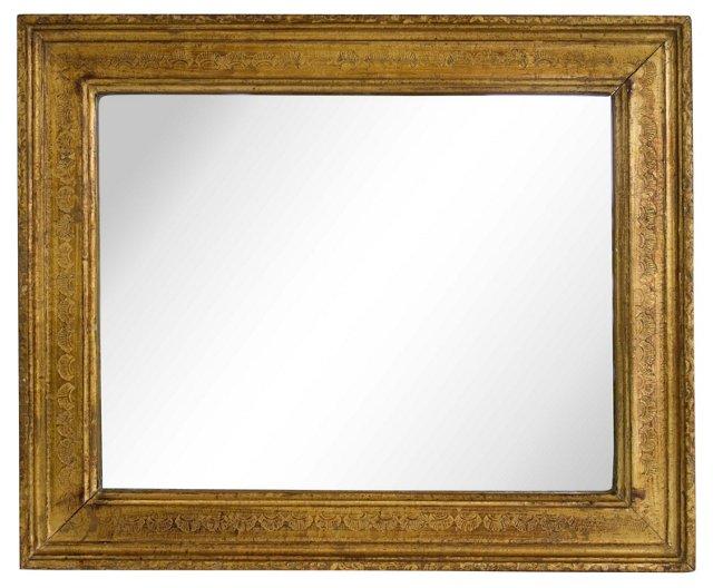 Giltwood Mirror w/ Shell Pattern