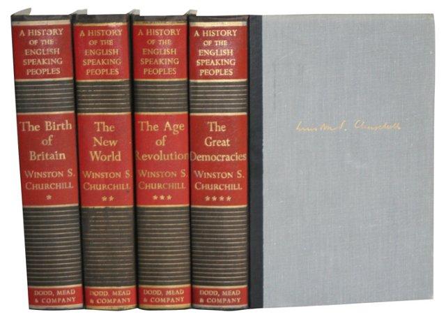 Churchill's History Books, 4 Vols