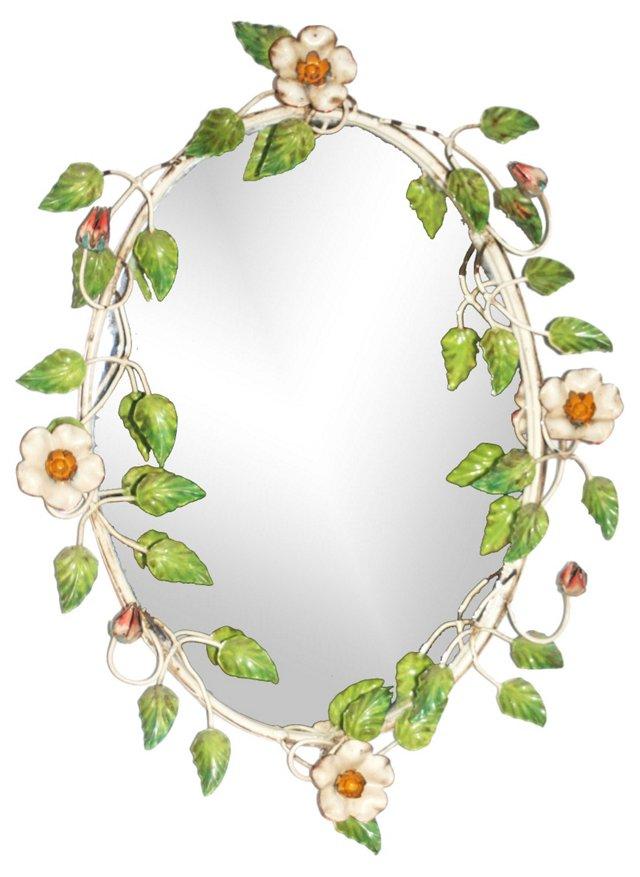 Italian Tole Floral Mirror