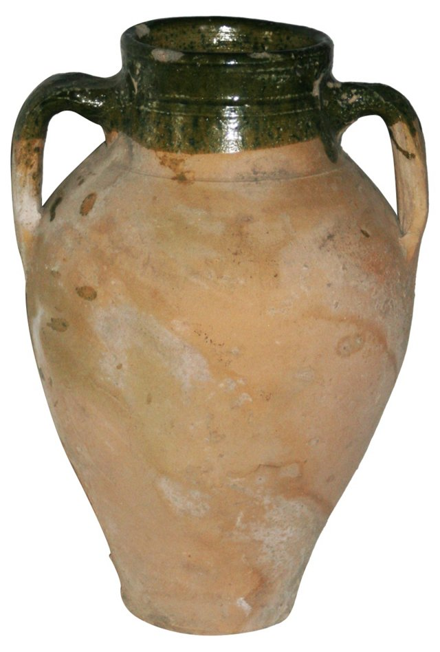 Italian Glazed Olive Jug