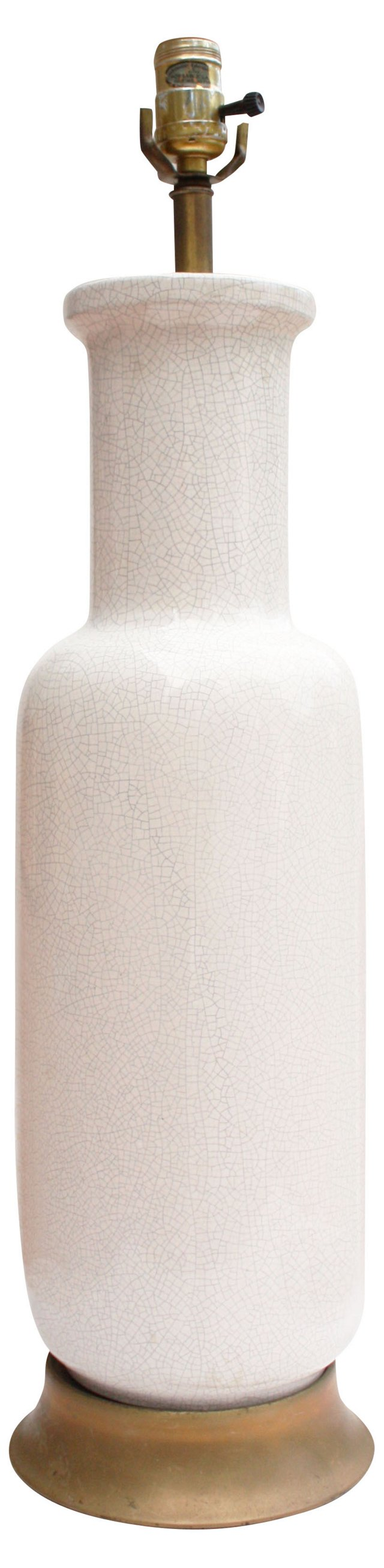 1950s White Porcelain Lamp