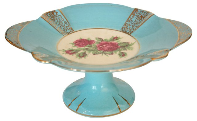 Aynsley Gilt Floral Compote