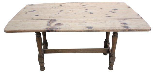 American Pine Drop-Leaf Farm Table