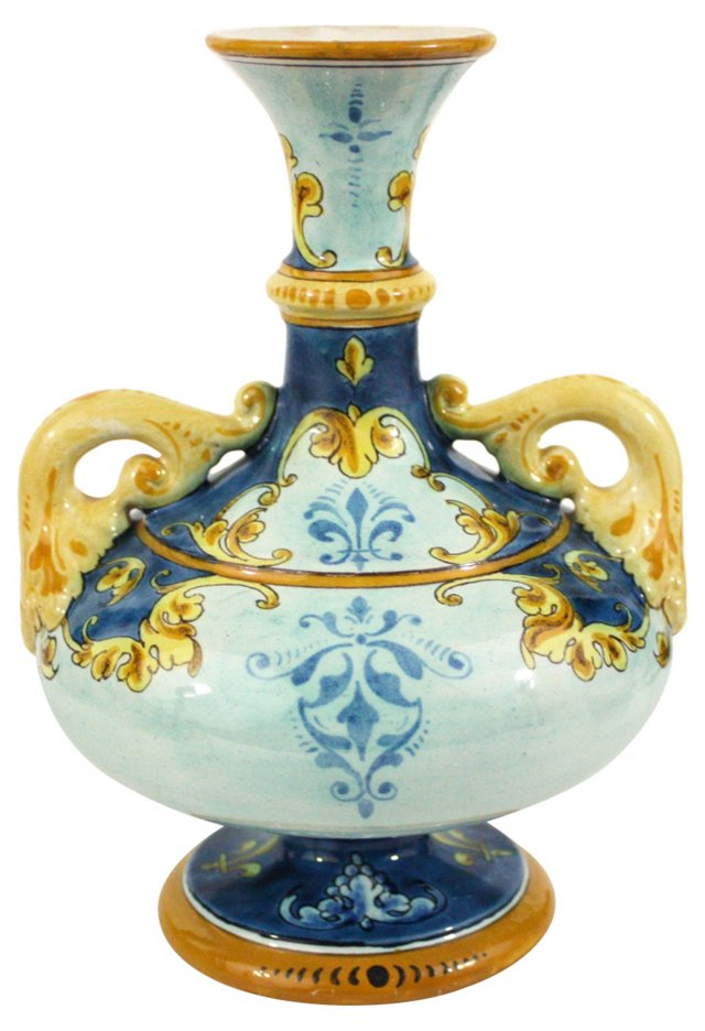 Hand-Painted French Trophy Urn
