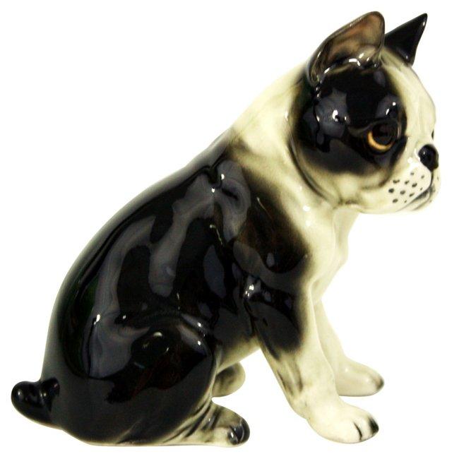 Porcelain Boston Terrier Dog