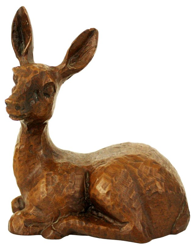 Hand-Carved Deer