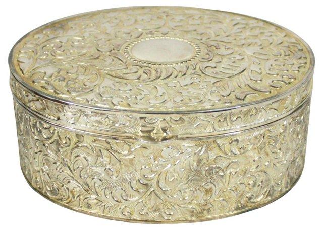 Silverplate Velvet Lined Jewelry Box