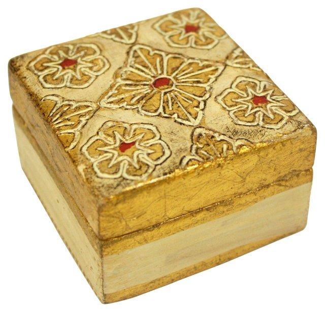 Gold & Red Florentine Box