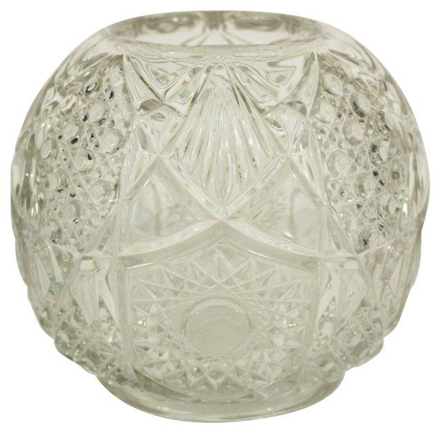 Lattice Pressed Glass Globe Bowl