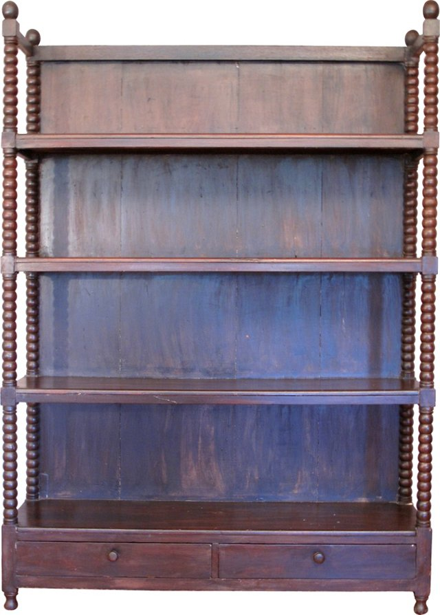 Early-20th-C. Anglo-Indian Bookcase