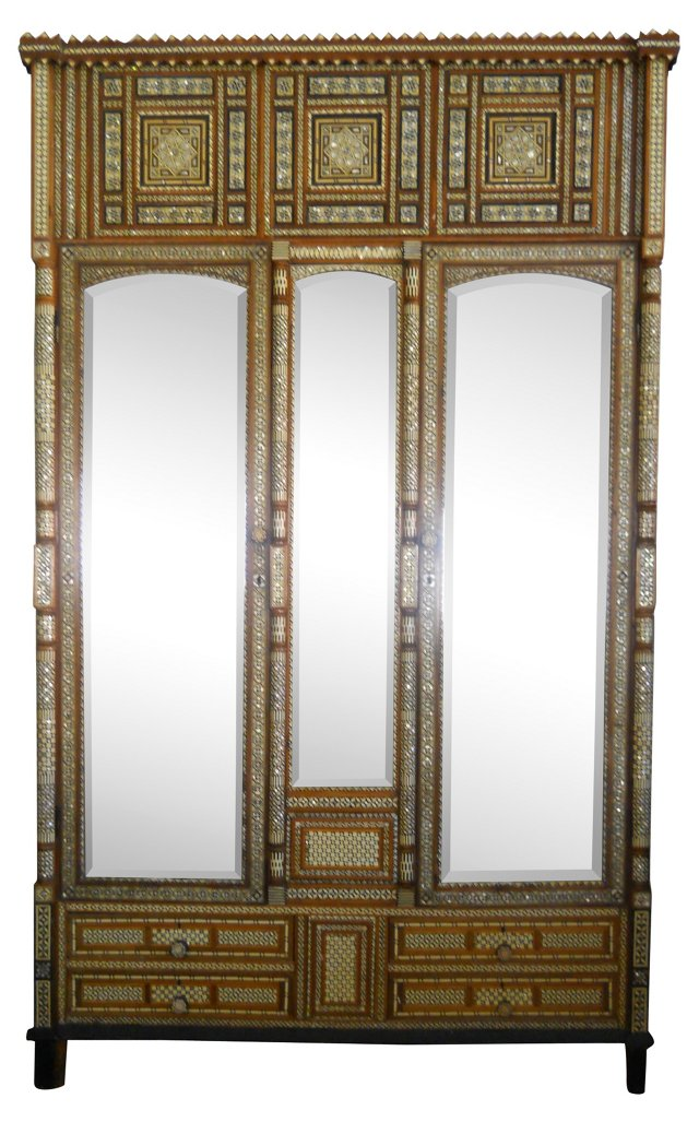 Moroccan Inlaid Armoire