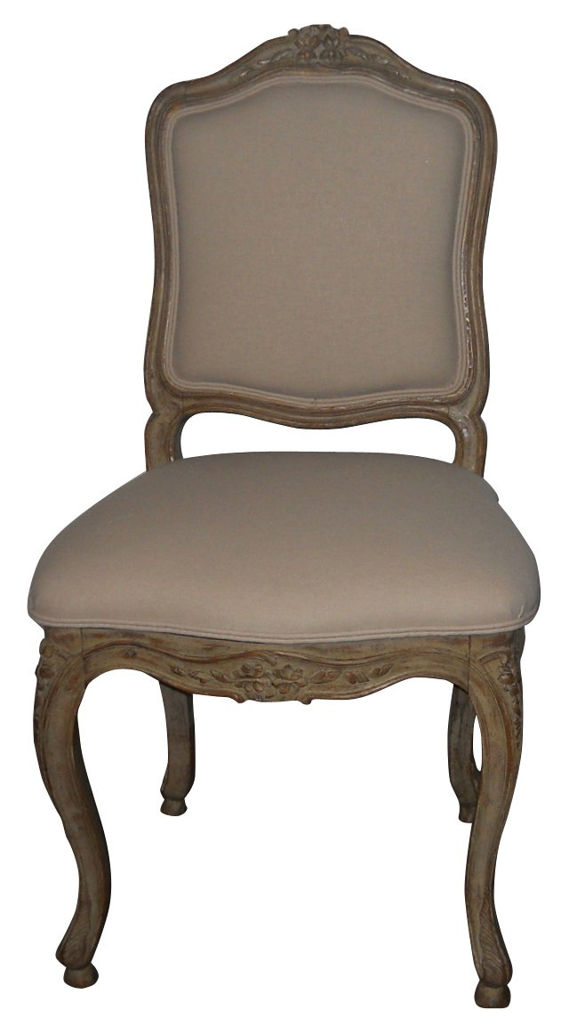 French Side Chair w/ Linen