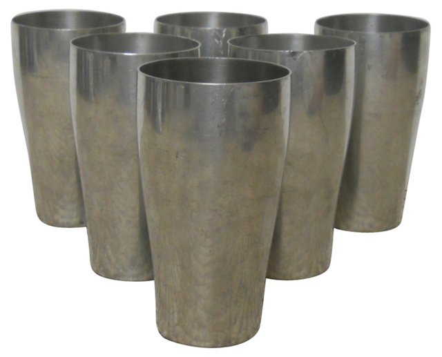 Pewter Cups, Set of 6