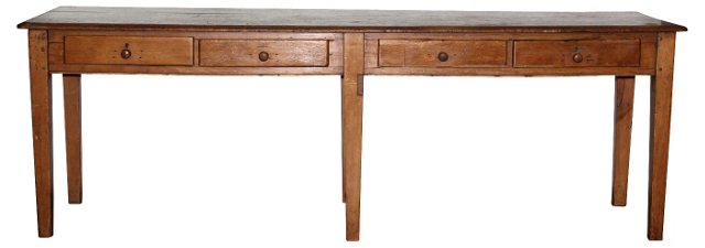 19th-C.   French Pine Table