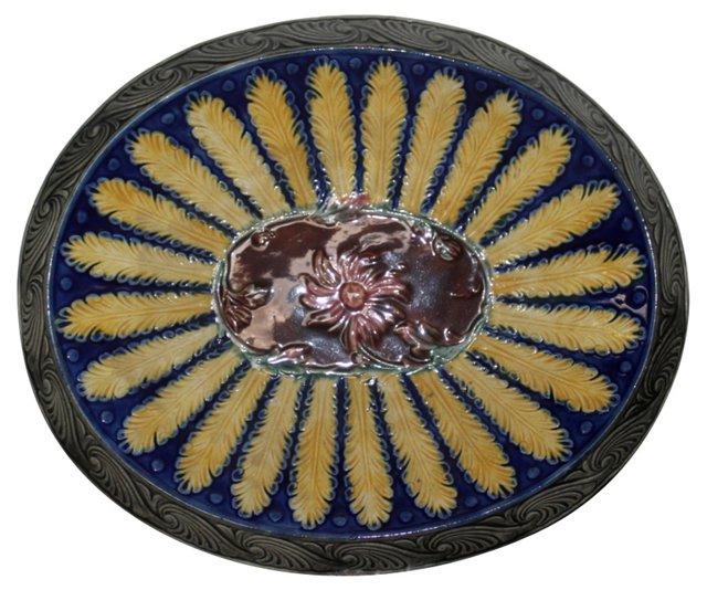 Majolica Oval Plate