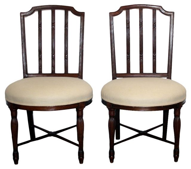 1920s  English   Chairs, Pair