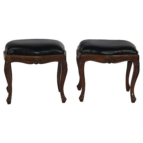 Louis XV-Style Benches, Pair