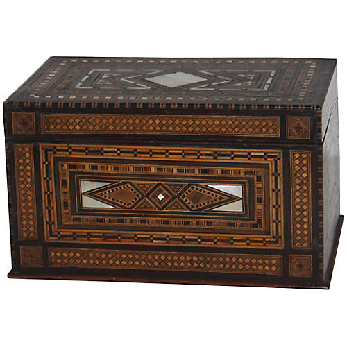 Syrian Marquetry Box w/Mother-of-Pearl