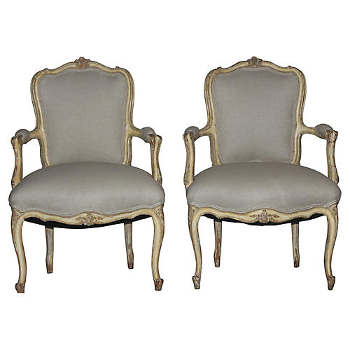 Louis XV-Style Chairs, S/2