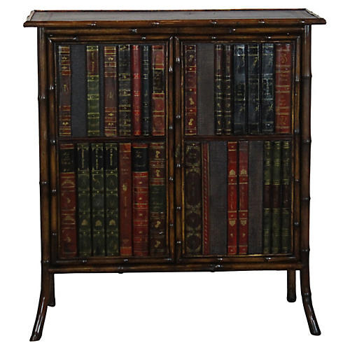 19th-C French Bamboo Cabinet