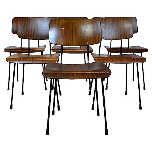 Bentwood Dining Chairs, S/6