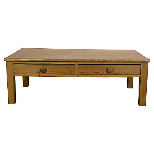19th-C Pine Coffee Table