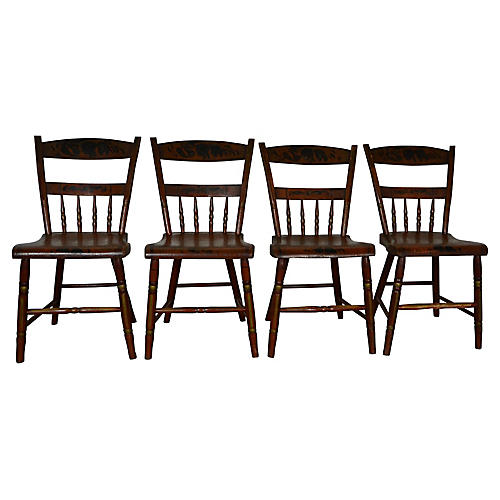 19th-C Hitchcock Chairs