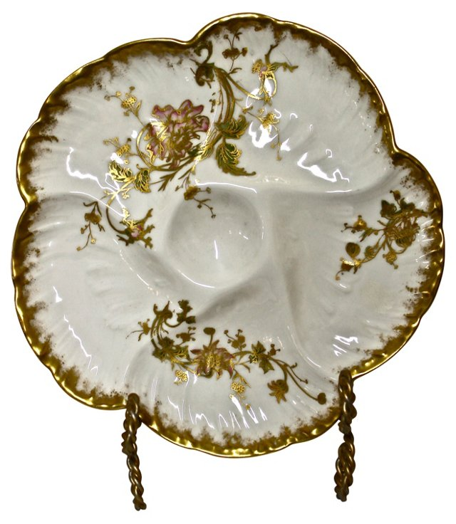 Antique Limoges Oyster Plate