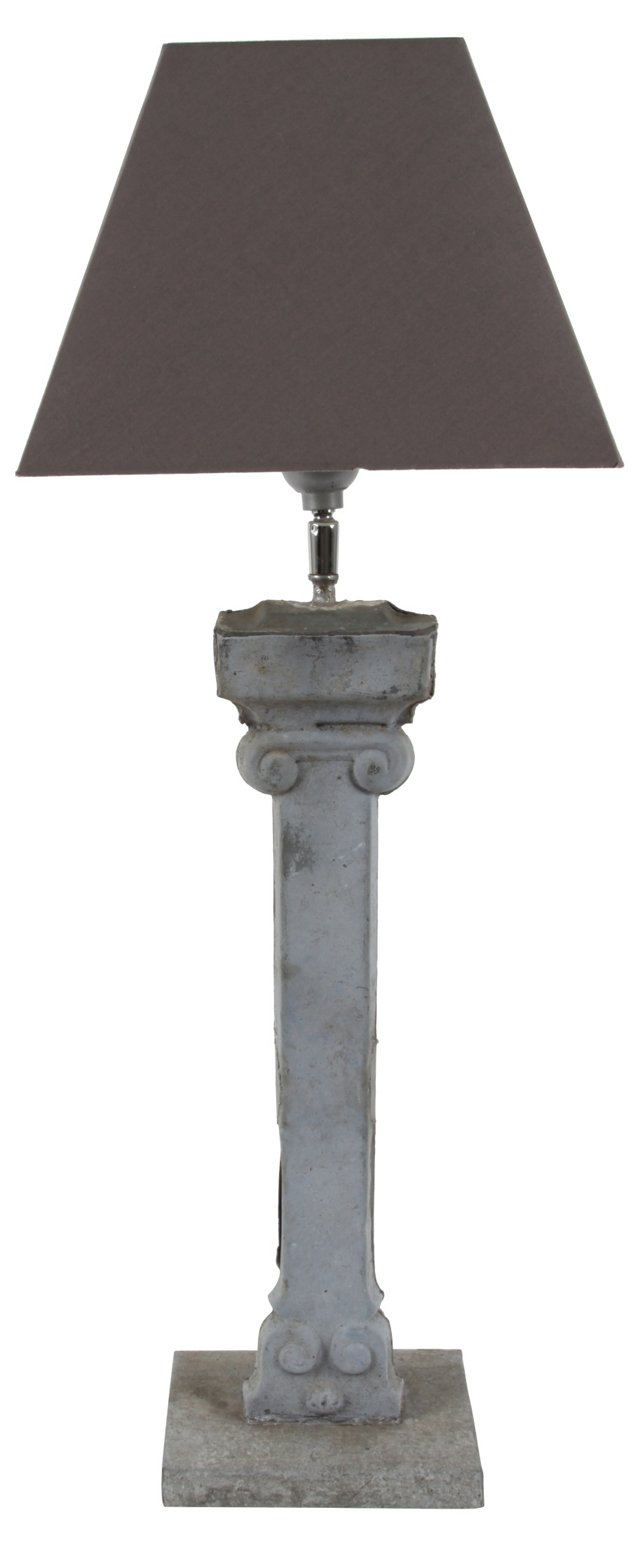 19th-C. French Drain Pipe Lamp