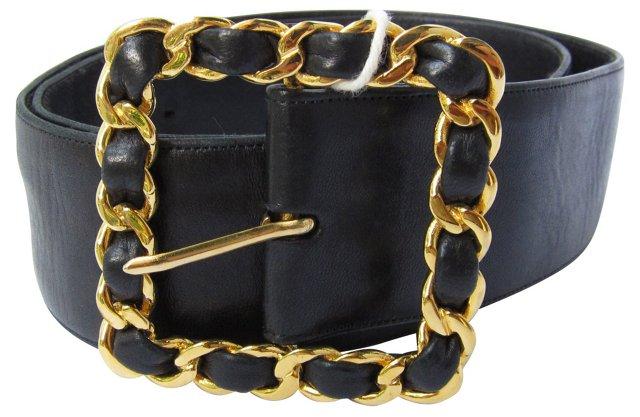 Chanel Belt w/ Chain Buckle