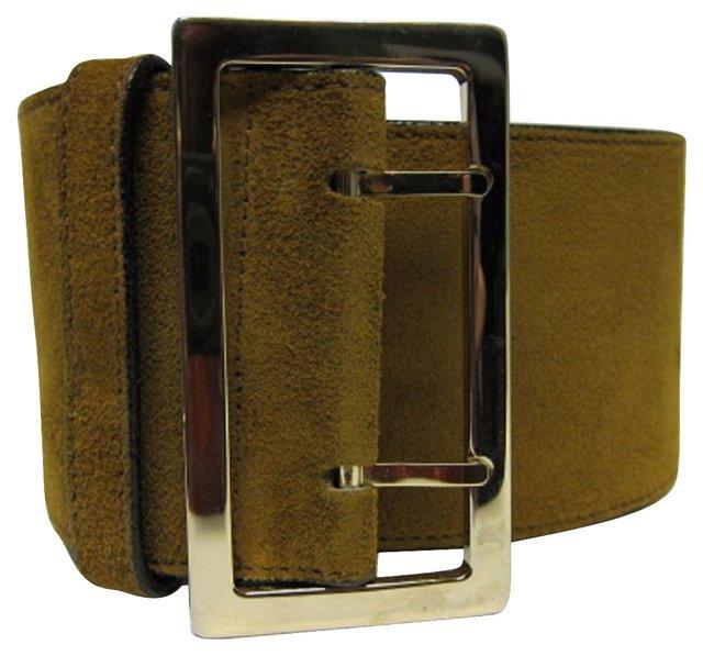Versace Suede Brown Belt