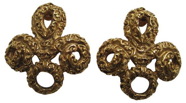 Chanel Filigree Earrings