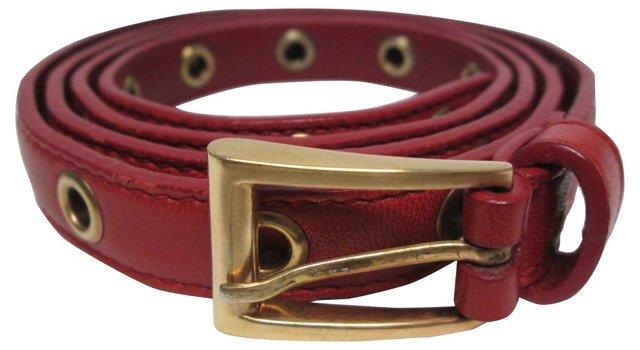 Prada Red Leather  Belt