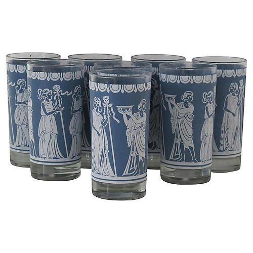 Grecian Highball Glasses, S/8