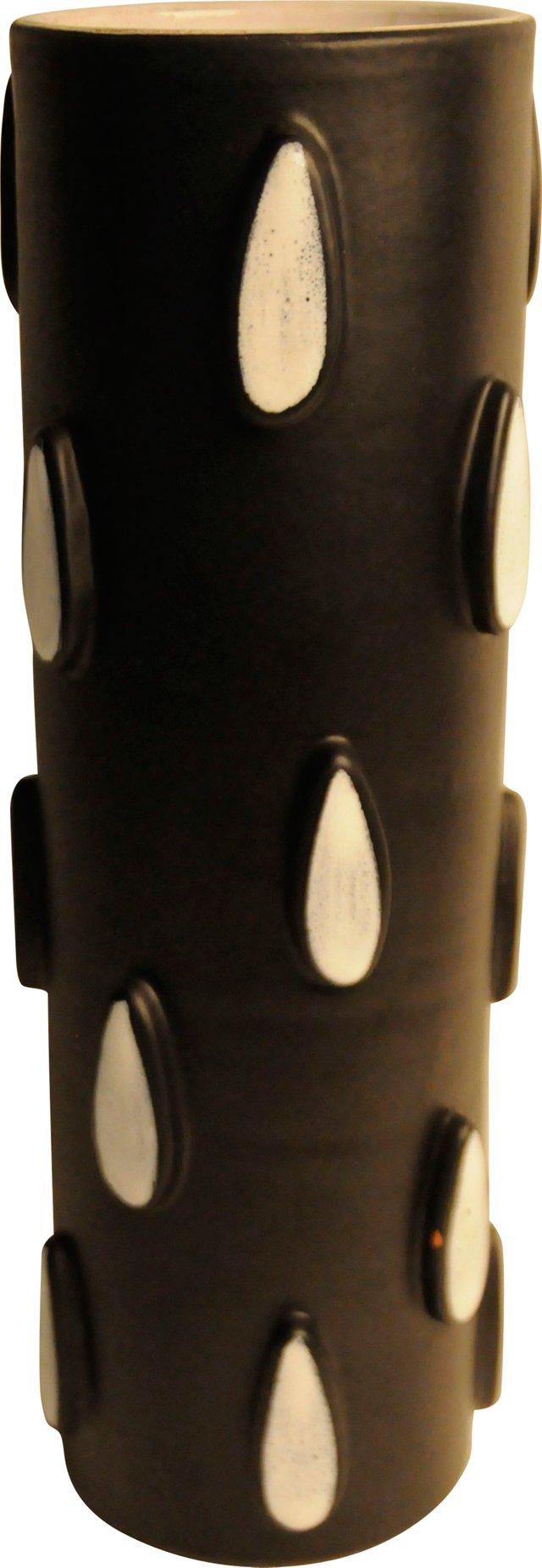 Black & White Teardrop Vase