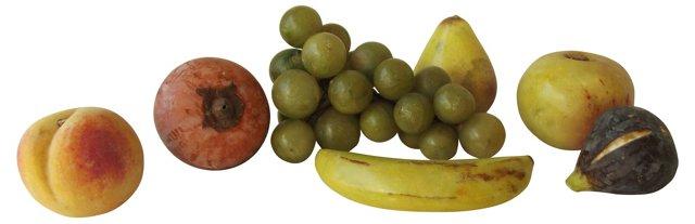Italian Alabaster Fruit, 7 Pcs