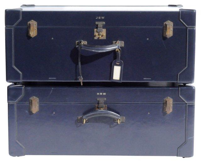 Custom 1970s Hermès Trunks, Pair