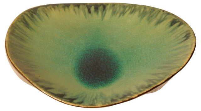 Glazed Teal Serving Dish